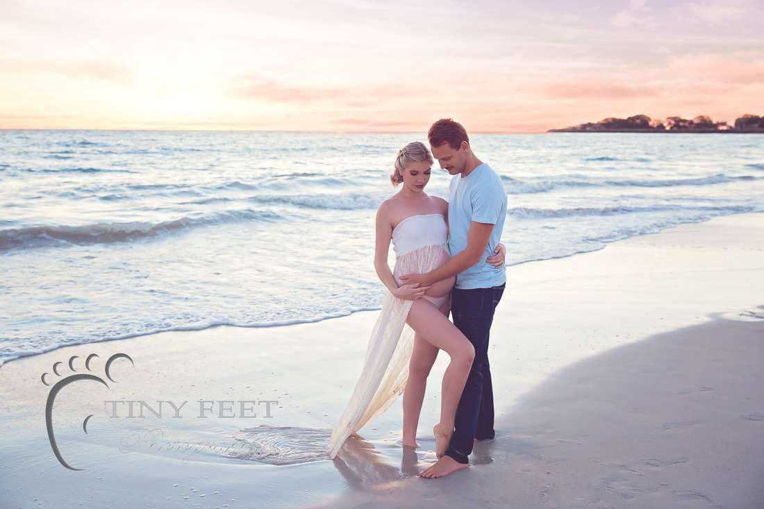 Tiny Feet photography Perth sunset family beach maternity session