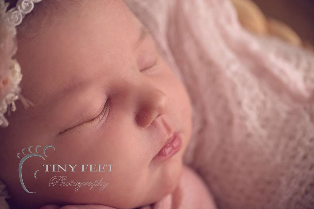 Tiny Feet Photography Perth newborn girl close up shot with Macro lens