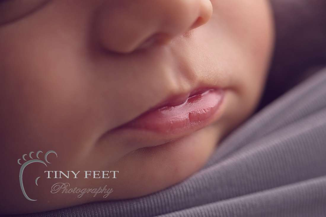 Tiny Feet Photography newborn baby close up shot of lips
