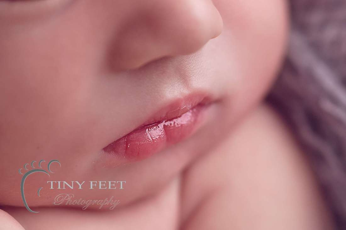 Tiny Feet Photography, newborn baby macro detailed shots of baby lips