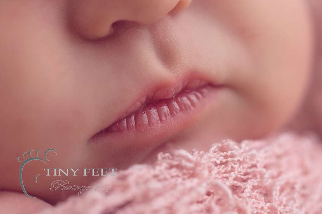 Tiny Feet photography Macro close up shots of newborn lips