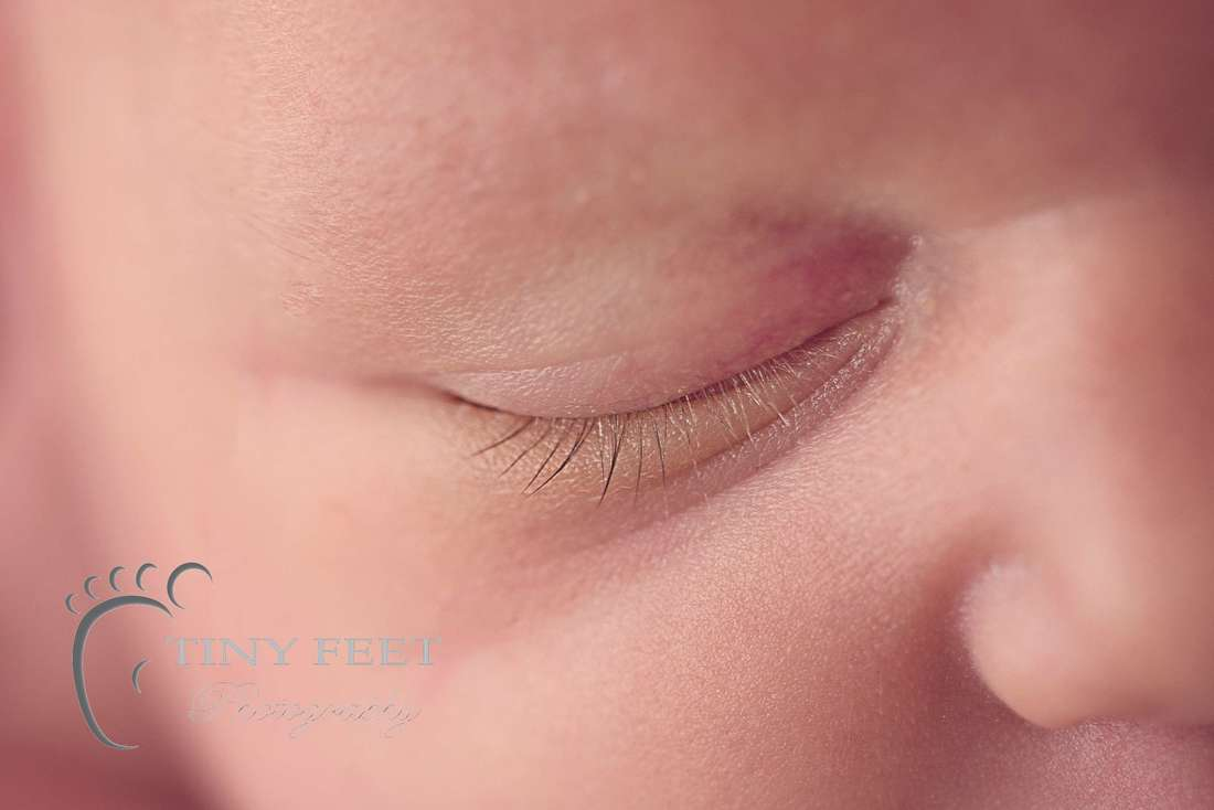 Tiny Feet Photography macro shots of baby eyelashes